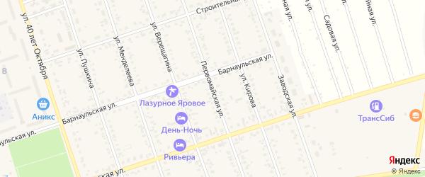 Первомайская улица на карте Ярового с номерами домов