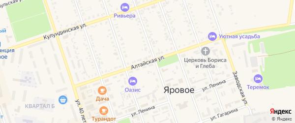 Алтайская улица на карте Ярового с номерами домов