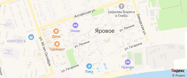 Улица Ленина на карте Ярового с номерами домов
