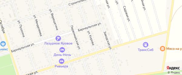 Улица Кирова на карте Ярового с номерами домов