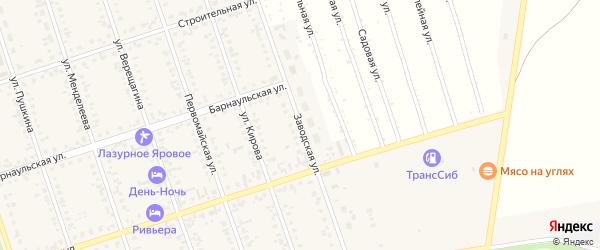 Заводская улица на карте Ярового с номерами домов
