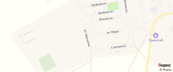 Улица Шукшина на карте Селекционного села с номерами домов