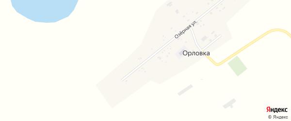 Озерная улица на карте села Орловки с номерами домов