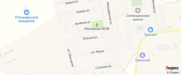 Южная улица на карте Селекционного села с номерами домов