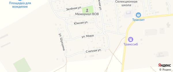 Улица Мира на карте Селекционного села с номерами домов