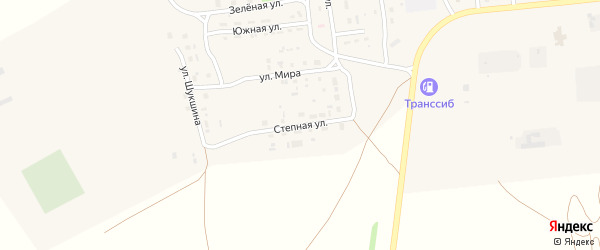 Степная улица на карте Селекционного села с номерами домов