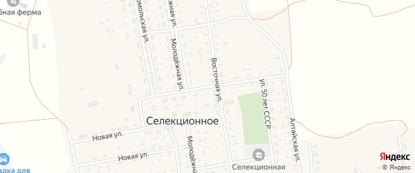 Садовая улица на карте Селекционного села с номерами домов