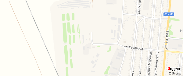 2-я Складская улица на карте Славгорода с номерами домов