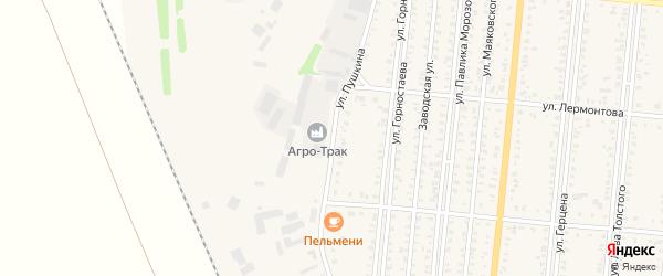 Улица Пушкина на карте Славгорода с номерами домов