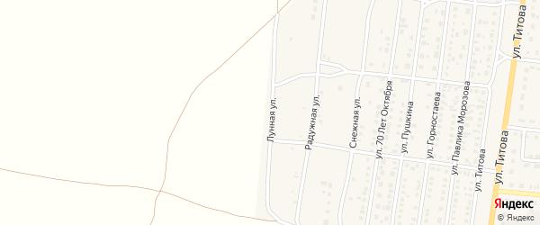 Лунная улица на карте Славгорода с номерами домов