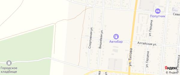 Спортивная улица на карте Славгорода с номерами домов