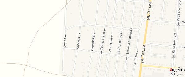 Снежная улица на карте Славгорода с номерами домов