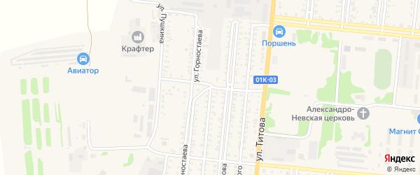 Заводская улица на карте Славгорода с номерами домов