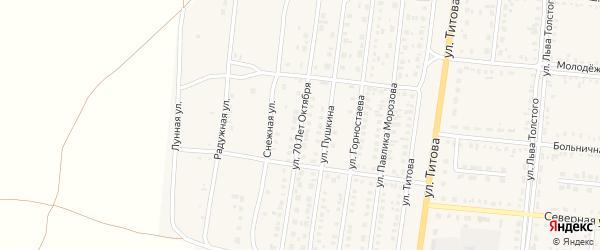 Улица 70 лет Октября на карте Славгорода с номерами домов