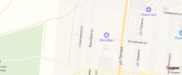 Вишневая улица на карте Славгорода с номерами домов