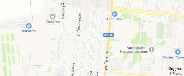 Улица П.Морозова на карте Славгорода с номерами домов