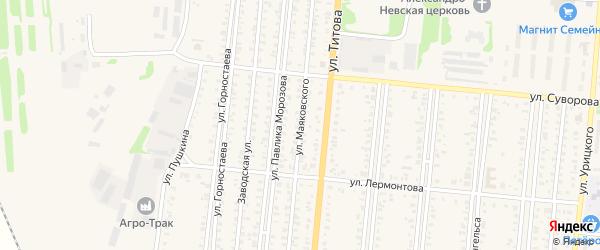 Улица Маяковского на карте Славгорода с номерами домов