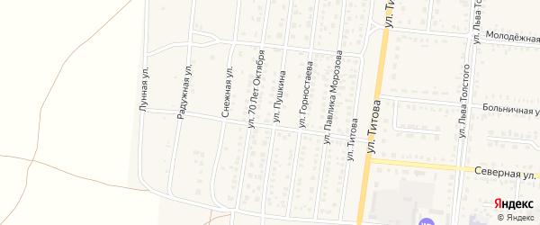 Советская улица на карте Славгородского села с номерами домов