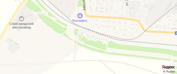 Улица 22-й околоток на карте Славгорода с номерами домов