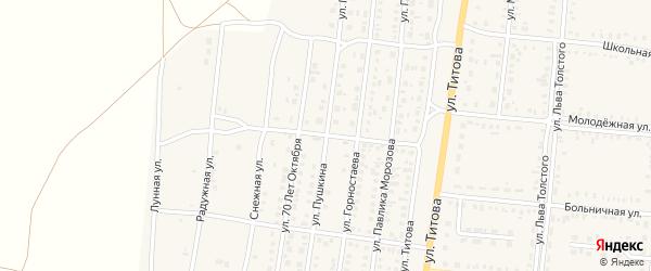 Улица Пушкина на карте Славгородского села с номерами домов