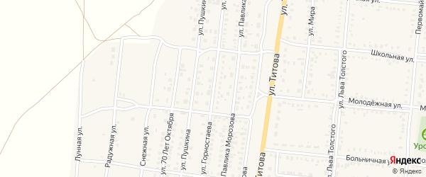 Улица Горностаева на карте Славгородского села с номерами домов