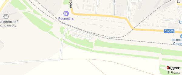Улица 16-й околоток на карте Славгорода с номерами домов