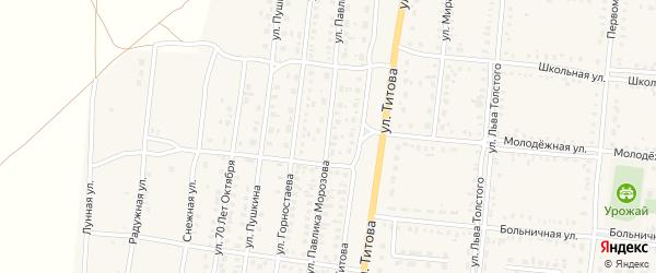 Улица П.Морозова на карте Славгородского села с номерами домов
