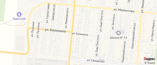 Коммунистическая улица на карте поселка Бурсоли с номерами домов