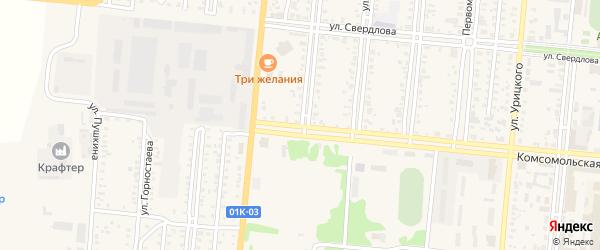 Улица Герцена на карте Славгорода с номерами домов