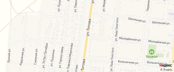 Улица Титова на карте Славгородского села с номерами домов