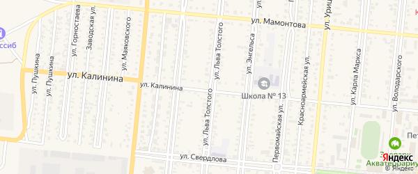 Улица Л.Толстого на карте Славгорода с номерами домов