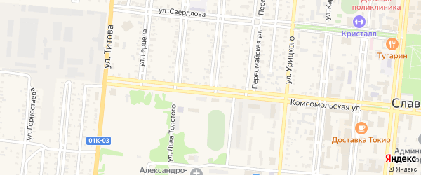 Улица Энгельса на карте Славгорода с номерами домов
