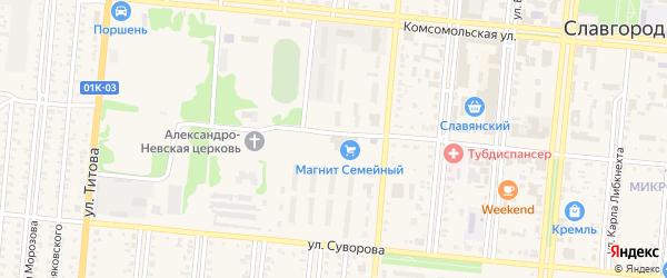 Военный городок на карте Славгорода с номерами домов