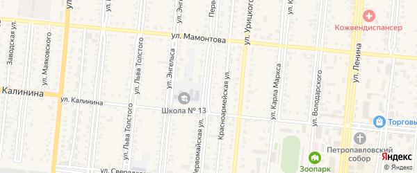 Первомайская улица на карте села Райгорода с номерами домов