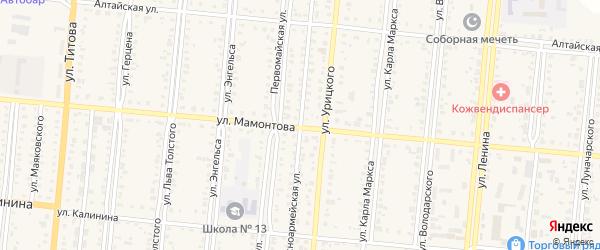 Красноармейская улица на карте Славгорода с номерами домов