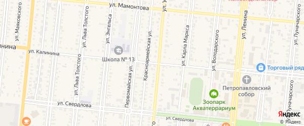 Улица Калинина на карте села Знаменки с номерами домов