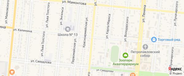 Улица Урицкого на карте Славгорода с номерами домов