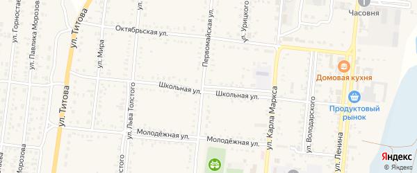 Школьная улица на карте Славгородского села с номерами домов