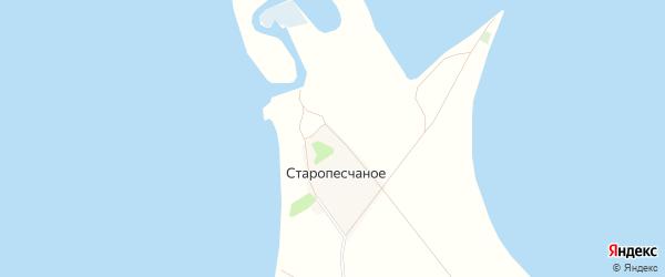 Карта поселка Старопесчаного в Алтайском крае с улицами и номерами домов