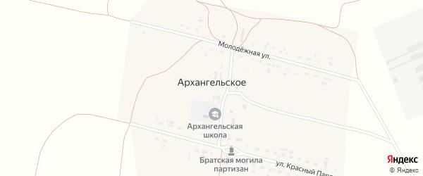Улица Красных Партизан на карте Архангельского села с номерами домов