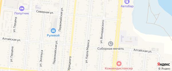 Улица К.Маркса на карте Славгорода с номерами домов