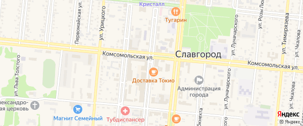 Улица Володарского на карте Славгородского села с номерами домов