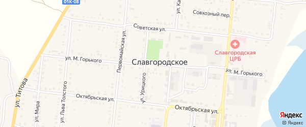 Улица М.Горького на карте Славгородского села с номерами домов