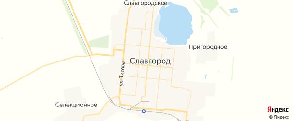 Карта Славгорода с районами, улицами и номерами домов