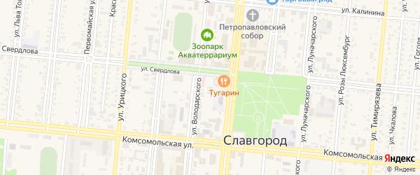 Улица 19-й околоток на карте Славгорода с номерами домов