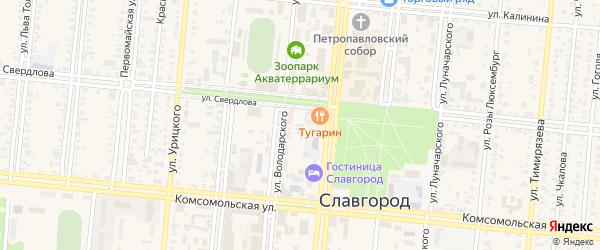 1-я Складская улица на карте Славгорода с номерами домов