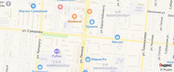 Улица Суворова на карте Селекционного села с номерами домов