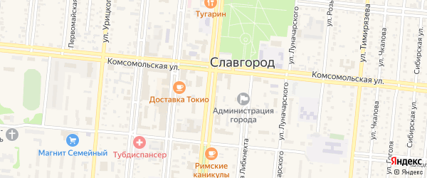 Улица Ленина на карте Славгорода с номерами домов