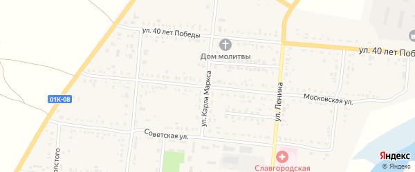 Московская улица на карте Славгородского села с номерами домов