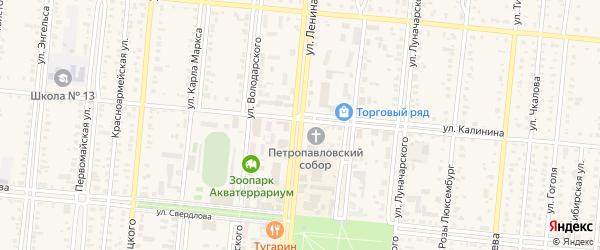 Улица Ленина на карте Славгородского села с номерами домов